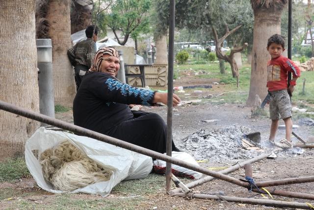 izbjeglice u parkovima Damaska